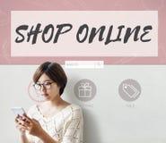Shop Online Internet Shopping Store Concept vector illustration