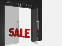 Shop open door Royalty Free Stock Image