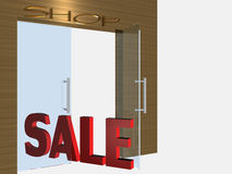 Shop open door Royalty Free Stock Photo