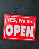 Shop Open Sign Royalty Free Stock Photography