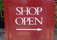 Shop open sign Royalty Free Stock Image