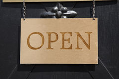 Shop Open Sign Stock Photography