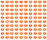 Shop orange message icons set Stock Image
