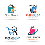 Shop Pack Logo Template Design Vector Royalty Free Stock Photos