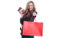 Shop and pay by card concept Royalty Free Stock Photo