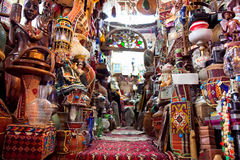Shop of Persian carpets, Shiraz, Iran Royalty Free Stock Photography