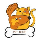 Shop for pets. Silhouette symbol stock illustration
