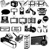 Shop pictogram icons 2 Royalty Free Stock Images