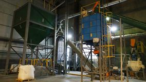 Shop plant for the production of pellets from biomass .Biofuel. Shop plant for the production of pellets from biomass .Biofuel stock photo