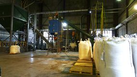 Shop plant for the production of pellets from biomass .Biofuel. Shop plant for the production of pellets from biomass .Biofuel stock images
