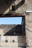Shop pompea... Architecture of old building dating back to the shop of the ancient Romans found in the archaeological excavations of Pompeii site of so much Royalty Free Stock Photography