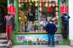 Shop at the Portobello Road in London, UK Stock Photos