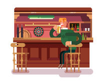 Shop pub beer Stock Image