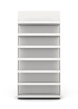 Shop racks front view. On white background. 3d render image Royalty Free Stock Photography