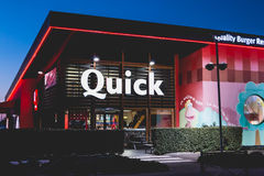 Shop of the restaurant chain specialized in burgers Stock Images