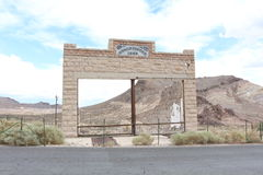 Shop in Rhyolite. A ruin of a shop in the ghost town Rhyolite Royalty Free Stock Images