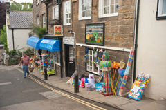 Shop at Robin Hoods Bay Stock Photo
