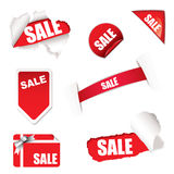 Shop sale elements Royalty Free Stock Photography