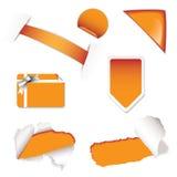 Shop sale elements orange Royalty Free Stock Images