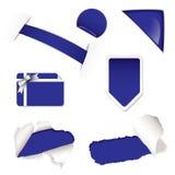 Shop sale elements purple Stock Photography
