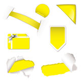Shop sale elements yellow Royalty Free Stock Photo