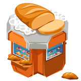 Shop for sale fresh bread and pastries. Vector illustration isolated vector illustration