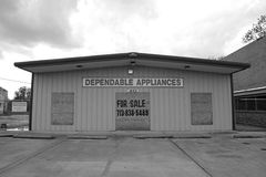 Shop for sale, Mississippi. A shop for sale in Clarkesdale, Mississippi Stock Photo