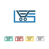 Shop, sale, retail icon and  logo Royalty Free Stock Image