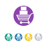 Shop, sale, retail icon and  logo Royalty Free Stock Images