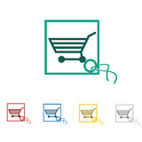 Shop, sale, retail icon and vector logo Stock Photo