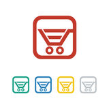 Shop, sale, retail icon and vector logo Stock Photography