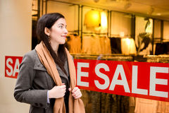 Shop sales Royalty Free Stock Photography