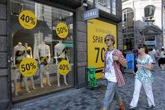 SHOP-SCHLIESSUNG Stockbild
