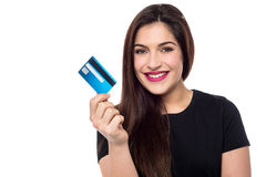 Shop this season with credit card ! Stock Photo