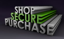 Shop Securely Online Royalty Free Stock Photos