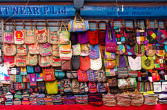 The shop sell traditional Nepalese handicrafts goods for tourist Stock Photo
