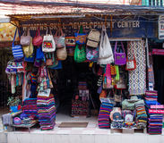 The shop sell traditional Nepalese handicrafts goods for tourist Stock Images
