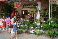 Shop selling flowers Royalty Free Stock Photo