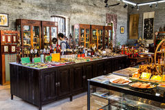 A shop selling folk handicrafts in Chen Clan Academy. Guangzhou city tourist attractions in Guangdong province China Chen Clan Academy. China Qing Dynasty stock photography