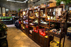 A shop selling folk handicrafts in Chen Clan Academy. Guangzhou city tourist attractions in Guangdong province China Chen Clan Academy. China Qing Dynasty stock images