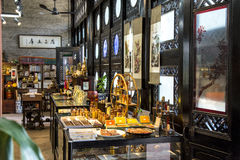 A shop selling folk handicrafts in Chen Clan Academy. Guangzhou city tourist attractions in Guangdong province China Chen Clan Academy. China Qing Dynasty stock photo