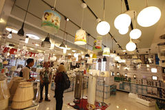 Shop selling lamps Stock Photography