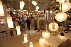 Shop selling lamps Stock Photo