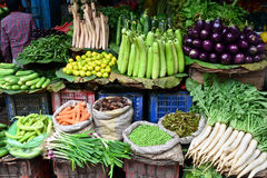 Vegetable shop. A shop selling vegetables in India Royalty Free Stock Images