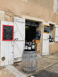 Shop selling wine near sant Emilion in France Stock Photo