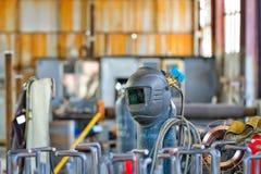 Shop semi-automatic welding Stock Photo