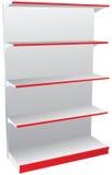 Shop shelves Stock Images