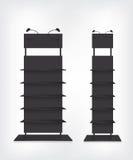 Shop shelves black Stock Images