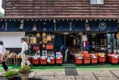 Shop in Shirakawa-go royalty free stock photography
