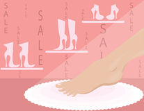 Shop of shoe Royalty Free Stock Photos